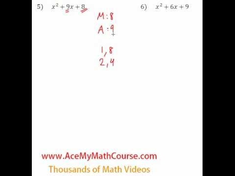 Polynomials - Factoring Trinomials Question #5