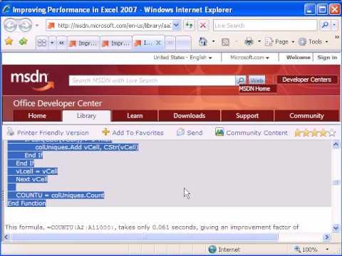 Excel Formula Efficiency 8: Custom VBA Function Can Be Fast