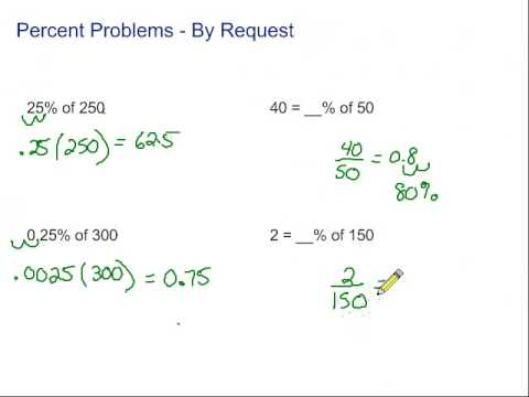 Percent Problems - By Request