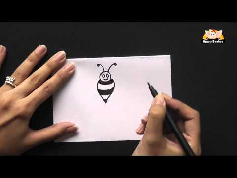How to Draw A Cute Cartoon Bumble Bee