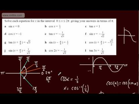 (10) Trigonometry Core 2 - Basic equations in radians
