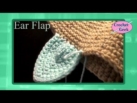 Oblong Crochet Ear Flap for Hat or Cap
