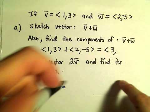 Vector Addition and Scalar Multiplication, Example 2