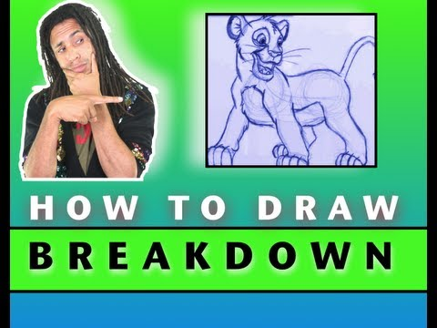 How to Draw!: Character Breakdown Simba from The Lion King