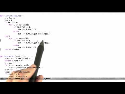 Luhns Algorithm Cont Solution - Software Testing - Random Testing - Udacity