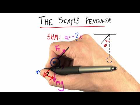 The Simple Pendulum - Intro to Physics - Simple Harmonic Motion - Udacity