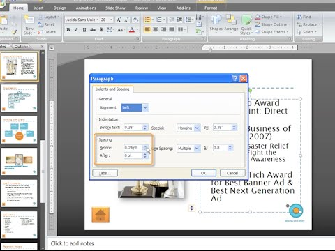 PowerPoint 2007: Indention and Line Spacing Part 2