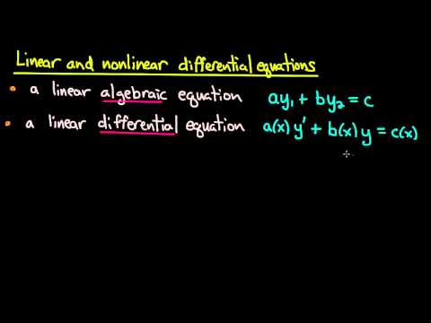 ODE | Linear versus nonlinear