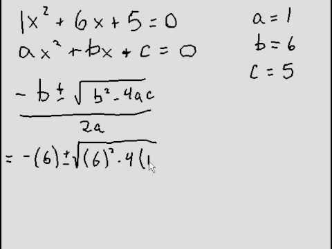 Quadratic Formula - Introduction