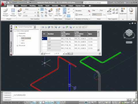 New Features in AutoCAD Plant 3D 2011