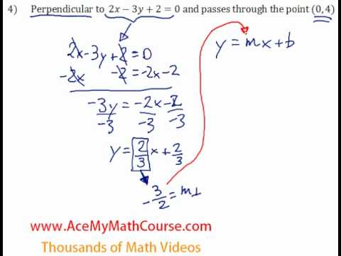 Perpendicular Lines - Question #4