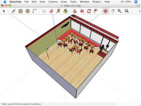 SketchUp: Standing in the right spot: Position Camera