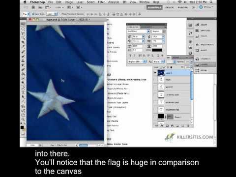 Photoshop CS5 Closed Captioned - Masking Type