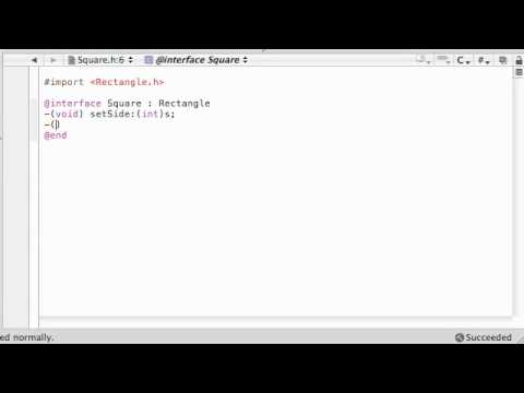 Objective C Programming Tutorial - 32 - OMG, a Square Class?!