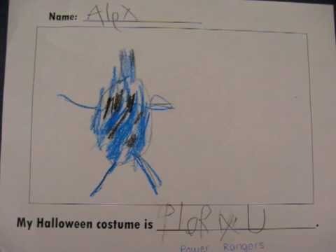 Our Halloween Costume Book (student drawings/sentences)
