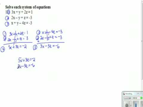 system of 3 equations