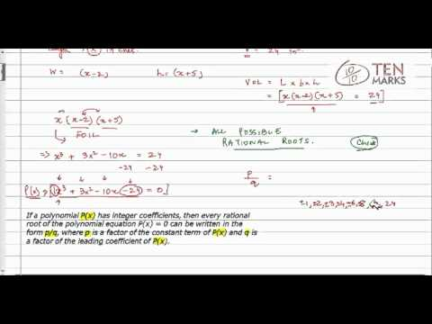 Rational Root Theorem Applications