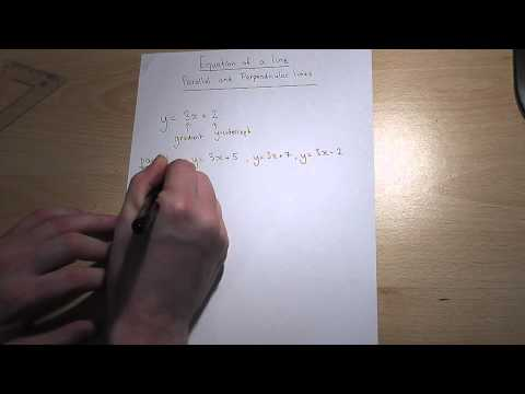 Parallel and perpendicular lines and y=mx+c made easy, GCSE maths revision video