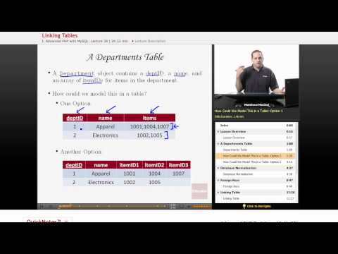PHP with MySQL: Linking Tables