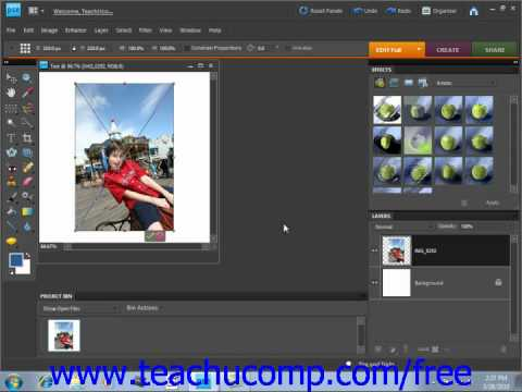 Photoshop Elements 9.0 Tutorial Placing Files Adobe Training Lesson 4.5