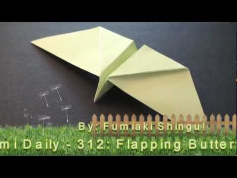 Origami Daily - 312: Flapping Butterfly (Kids Origami) - TCGames [HD]