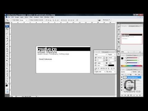 Photoshop Cs3 / Cs4: How to make a Professional business card