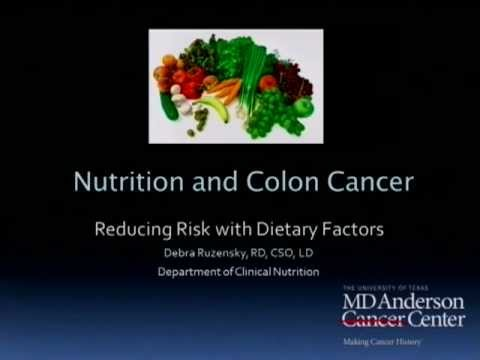 Reducing Colorectal Cancer Risk Through Diet
