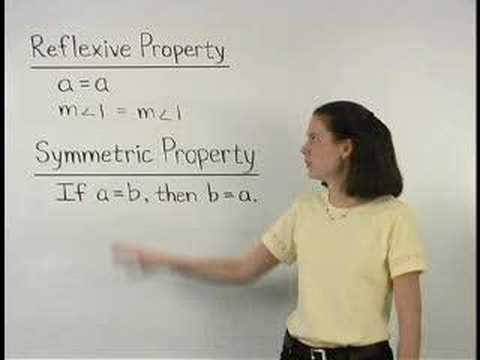 Reflexive Property and Symmetric Property - YourTeacher.com