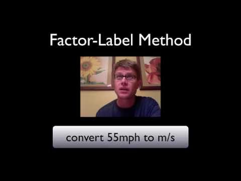 The Factor-Label Method