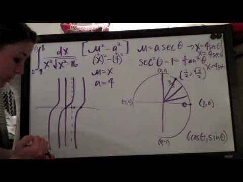Trigonometric Substitution Example 1 PART 2/3
