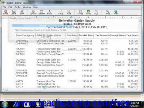 Peachtree Tutorial Paying Sales Taxes Sage Training Lesson 9.5