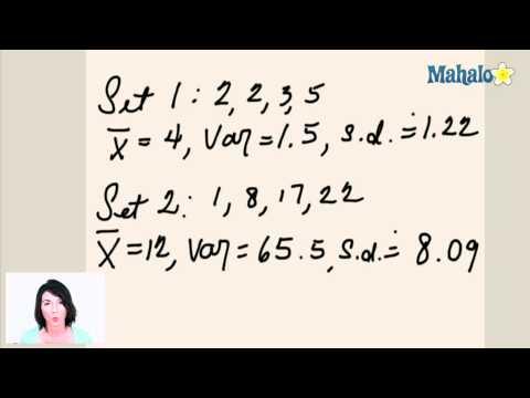 Statistics: Range, Variance and Standard Deviation (ex.3)