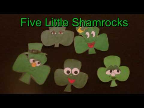 St. Patricks Day - Five Little Shamrocks - Littlestorybug