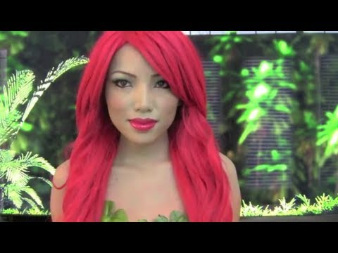 Poison Ivy Make-up Tutorial !!!(Cartoon version)