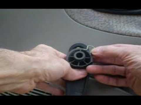 Window Crank Handle Removal