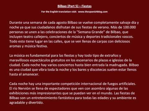 Spanish English Parallel Texts Bilbao (Part 5) Fiestas