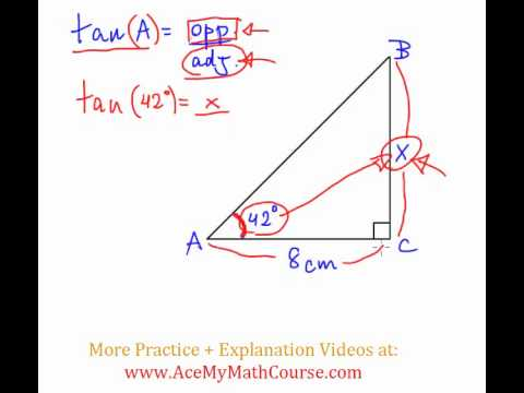 Tangent Ratio - Question #1 (Intro Trig)