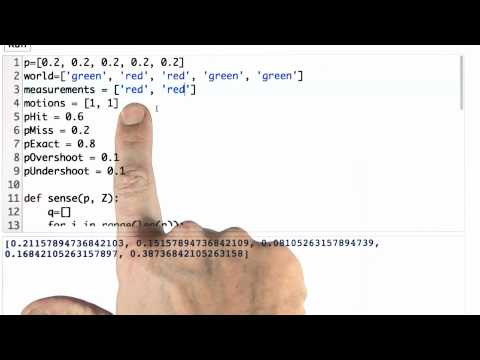 Sense And Move 2 - CS373 Unit 1 - Udacity