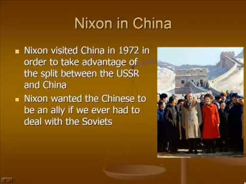 Schmidt Notes - US History - Unit 7 - NIXON (Foreign Policy) (Chapter 24.1)