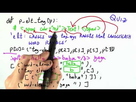 Parsing Tags Solution - CS262 Unit 4 - Udacity