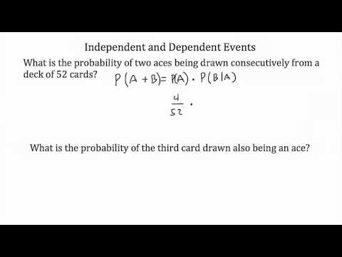 Probability-Independent and Dependent Events