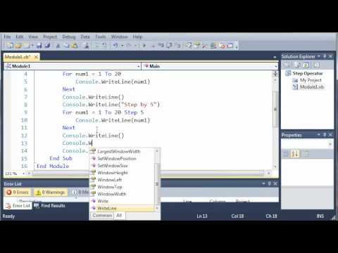 Visual Basic Tutorial - 27 - Step Operator