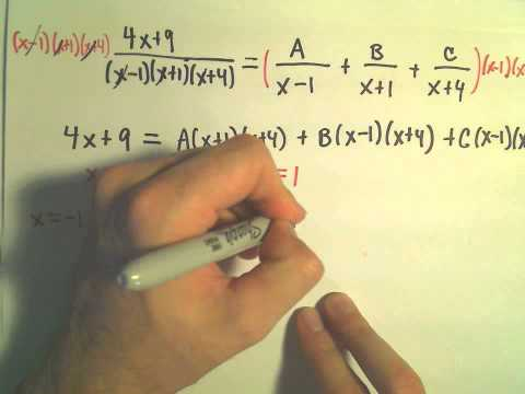 Partial Fraction Decomposition - Example 2