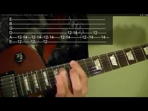 PARANOID by BLACK SABBATH, With Tabs