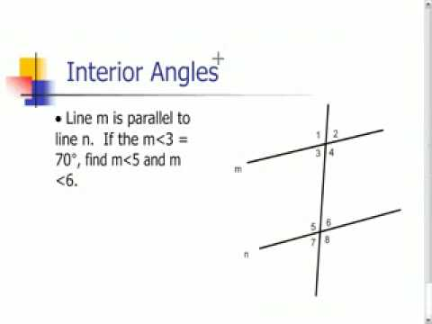 Parallel Lines and Interior Angles