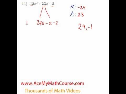 Polynomials - Factoring Trinomials (More Challenging) #11
