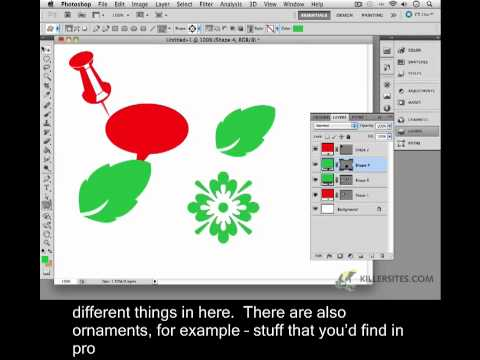 Photoshop CS5 Closed Captioned - Custom Vector Shapes Part 1