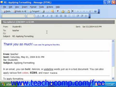 Outlook 2003 Tutorial Finding Messages 2003 Microsoft Training Lesson 3.14