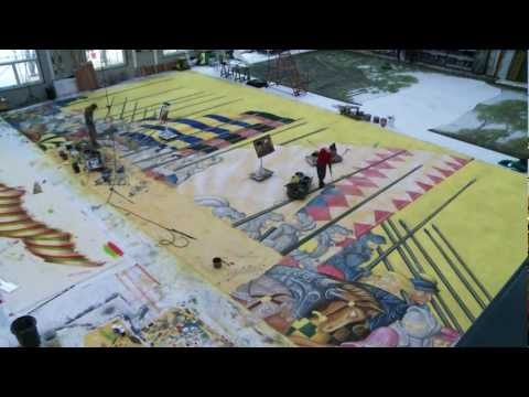 Painting the scenic cloth for The Royal Opera's Robert le diable (Time-lapse)