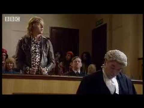 Ray on trial for obscenity - Hippies - BBC comedy